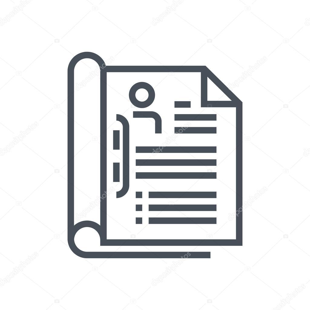 Icono de tema de curriculum vitae — Archivo Imágenes Vectoriales ...