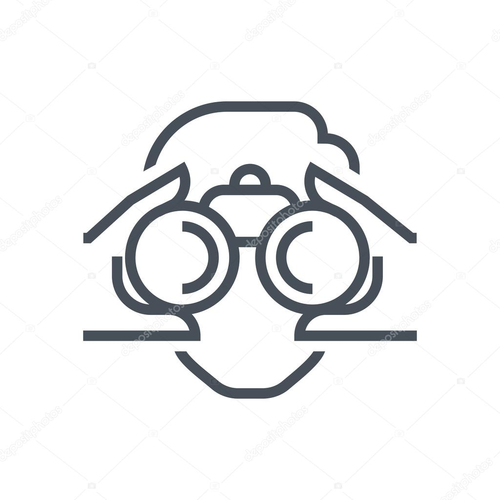 Binoculars, look icon — Stock Vector © Howcolour #104460840