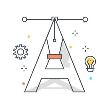 Color line, concept illustration, icon