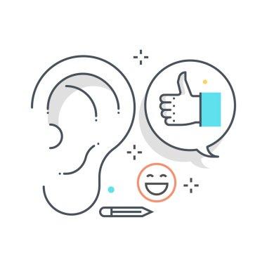 Color line, buzz marketing concept illustration, icon