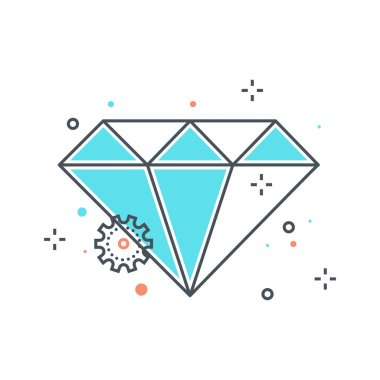 Color line, diamond illustration
