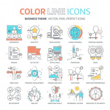 Color line, business illustrations