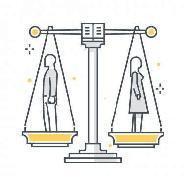 Divorce illustration, icon