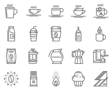 Coffee icon set