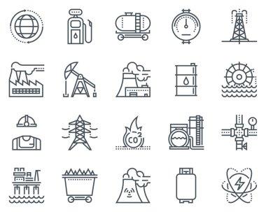 Energy industry icon set