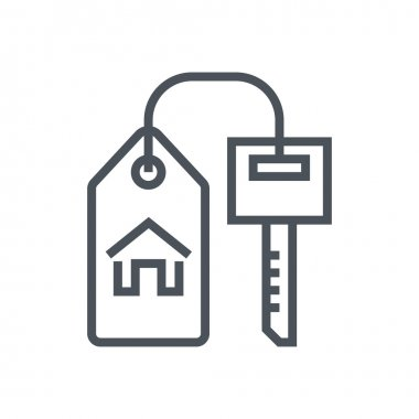 Key, home, real estate icon