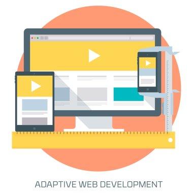 Adaptive Web Development theme flat style, minimal, stylish colo
