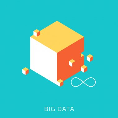 Big Data, flat style, colorful, vector icon