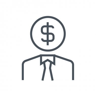 Employee, wages theme icon