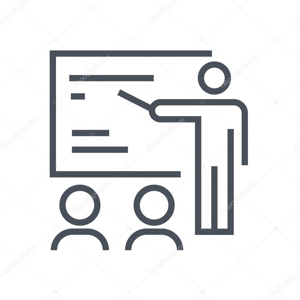 Training seminar icon — Stock Vector © Howcolour #96272810