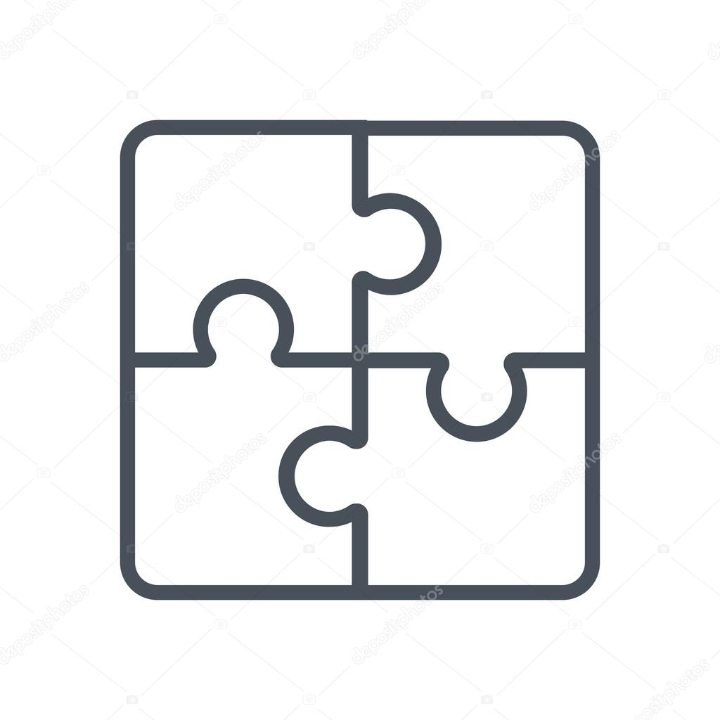 jigsaw puzzle business solution icon stock vector howcolour