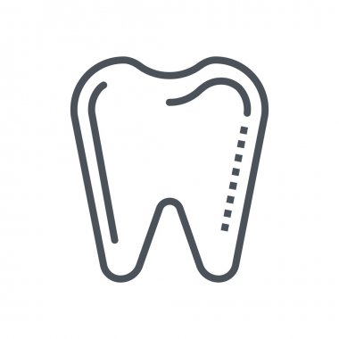 Dentist, tooth icon