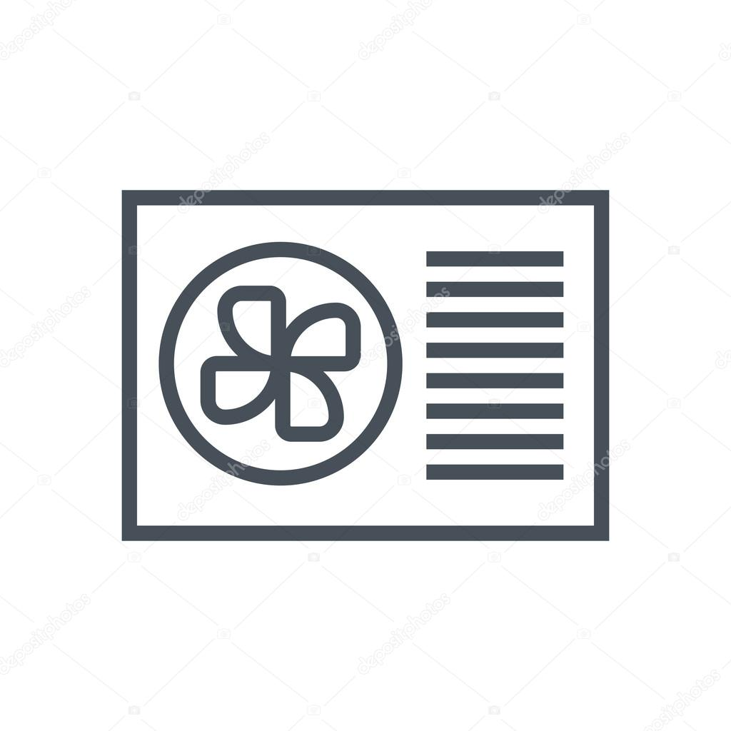 air conditioner icon. air conditioner icon suitable for info graphics, websites and print media interfaces. line vector icon. \u2014 by howcolour