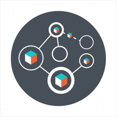 Network theme, flat style, colorful, vector icon for info graphi