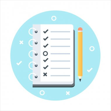 To do list theme, flat style, colorful, vector icon for info gra