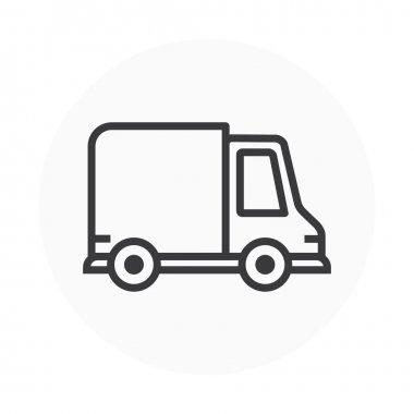 Delivery, car icon