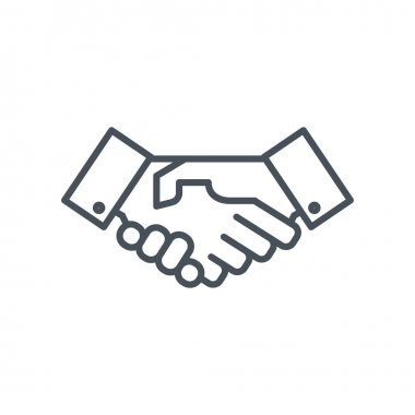 Hand shake icon suitable for info graphics, websites and print media. Colorful vector, flat icon, clip art. clip art vector
