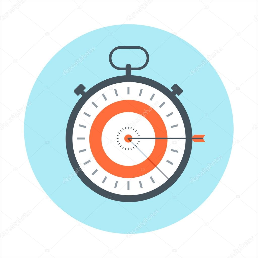 Time management, time is money theme, flat style, colorful, vect
