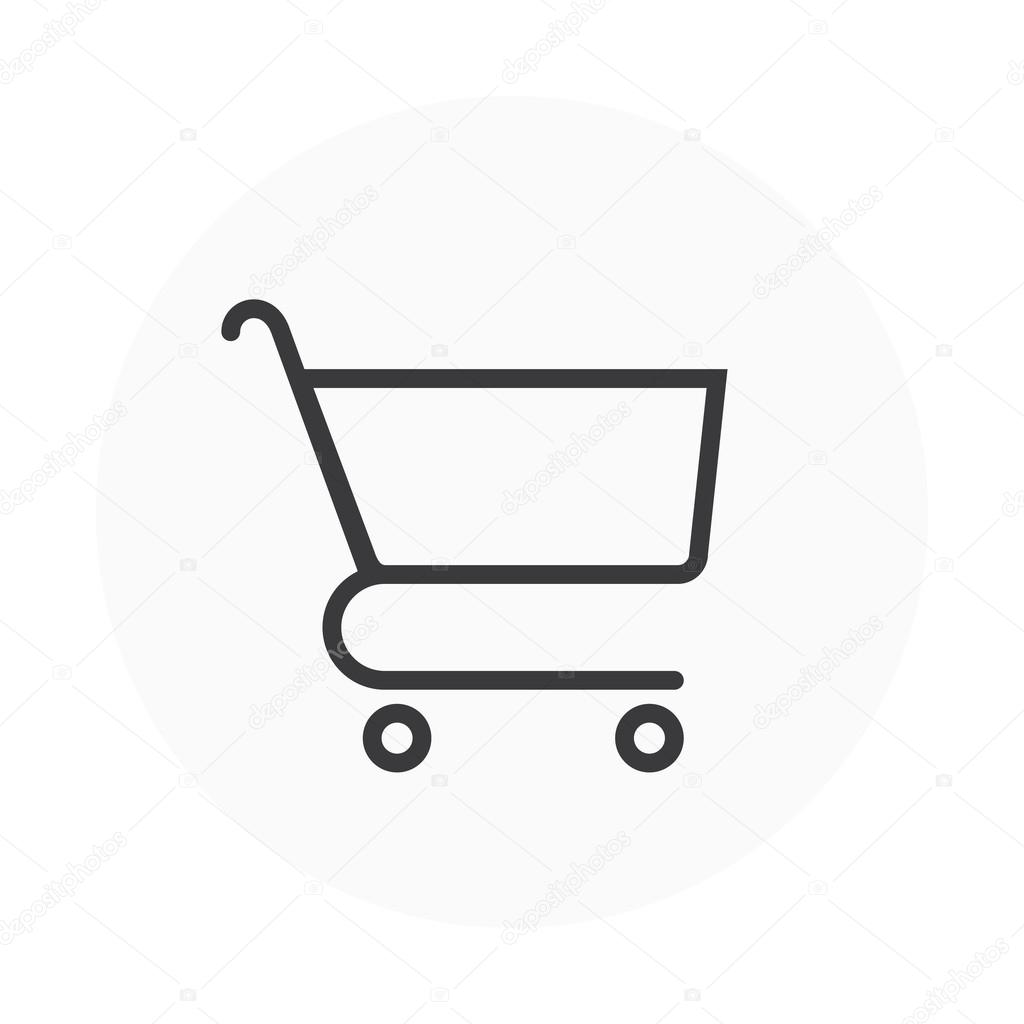 ショッピング カートのアイコン ストックベクター Howcolour 96308306