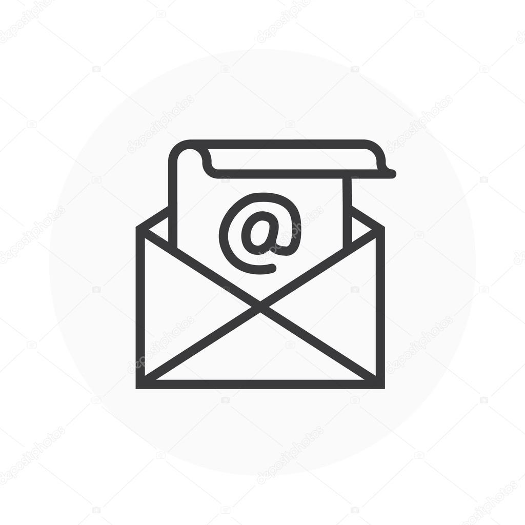 メールのテーマ アイコン — ストックベクター © howcolour #96308916