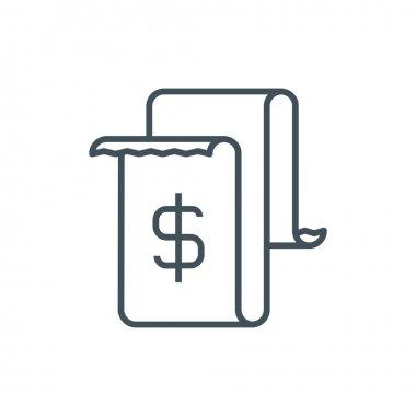 Invoice, bill icon