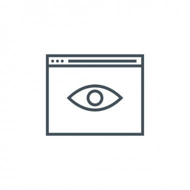 Search engine optimization monitoring icon