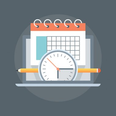 Events Calender flat Style, colorful, vector icon