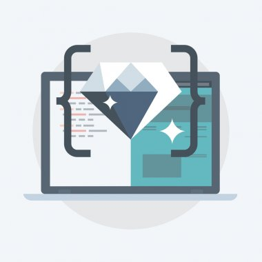 Clean Code flat style, colorful, vector icon