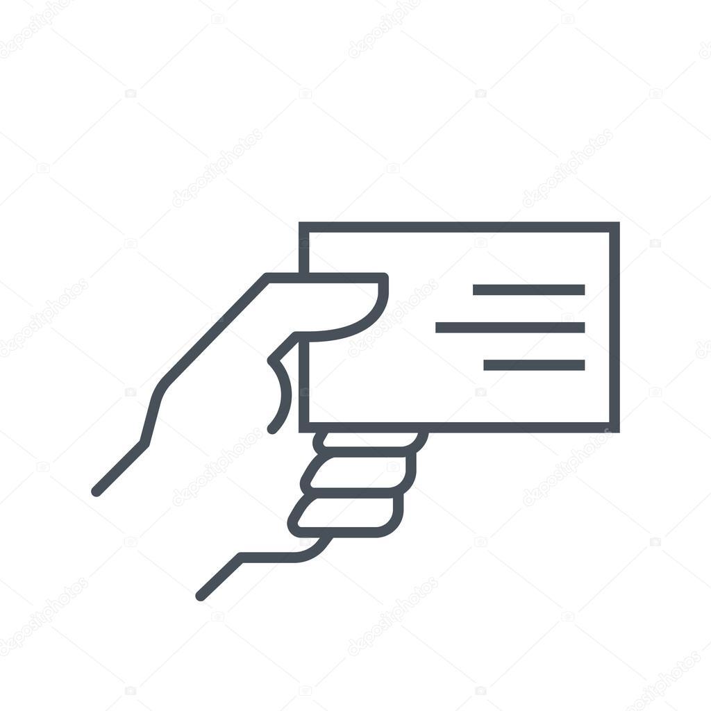 Icne De Carte Visite Adapt Aux Graphiques Dinformations Sites Web Et Presse Crite Des Interfaces Vecteur Ligne Par Howcolour