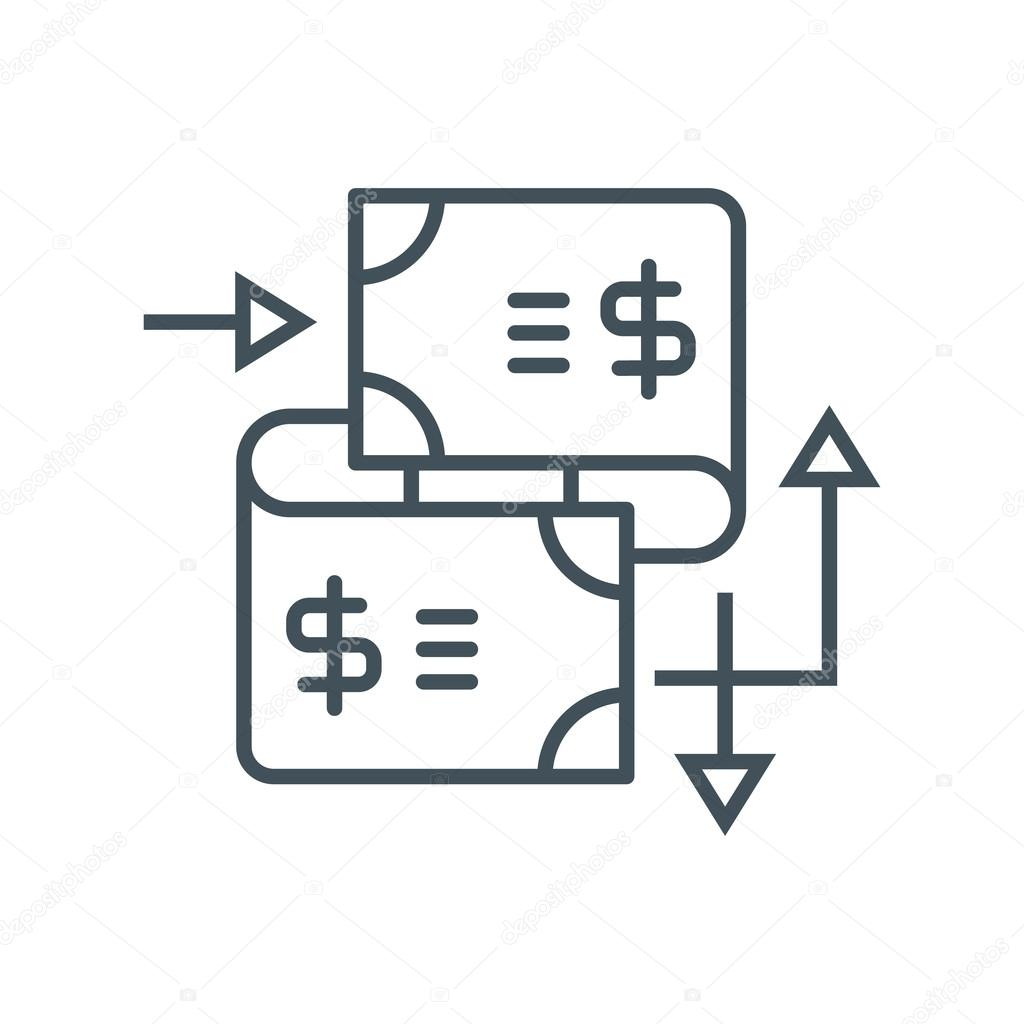 Wire transfer icon — Stock Vector © Howcolour #96313448