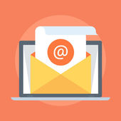 Photo E-mail Marketing flat style, colorful, vector icon