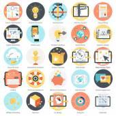 Suche Suchmaschinen-Optimierung-Thema-Icon-set