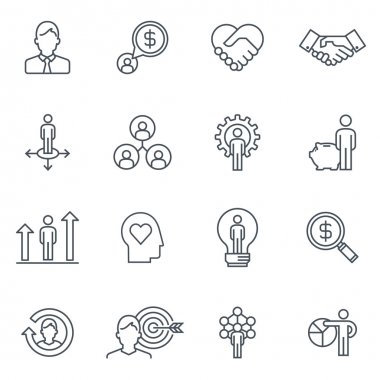 Business and finance icon set