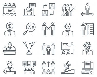 Corporate business icon set