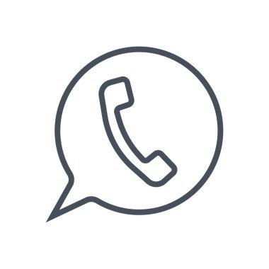 Phone,  speech bubble icon