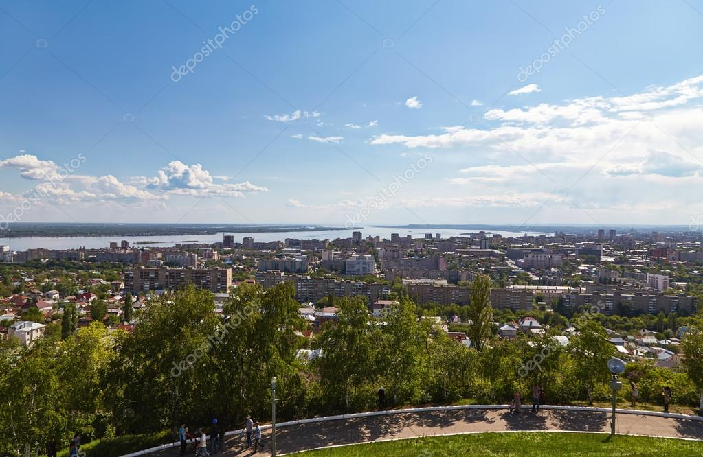 View of town Saratov from the Victory monument