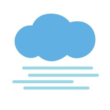 Icon foggy weather. Vector illustration. clip art vector