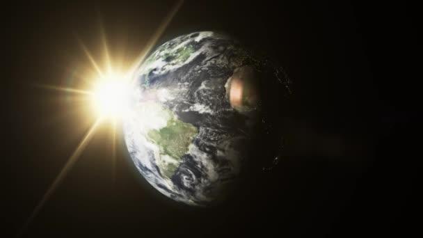 Rotující planety Země s atmosférou