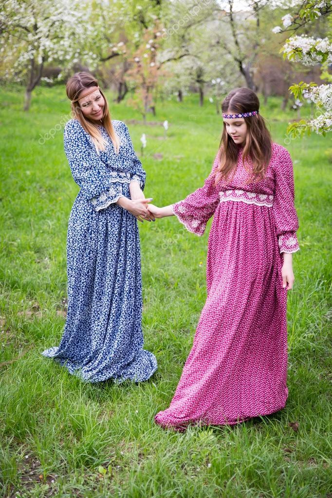 Vestidos largos madre e hija