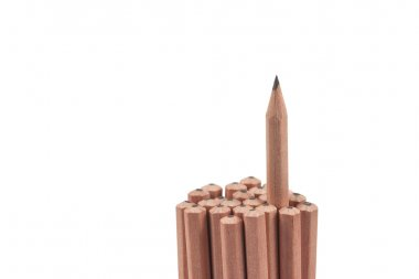 heap of wooden pencils
