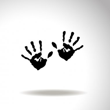 Hands print vector icon.