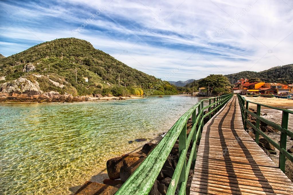 Beautiful landscape in Florianopolis
