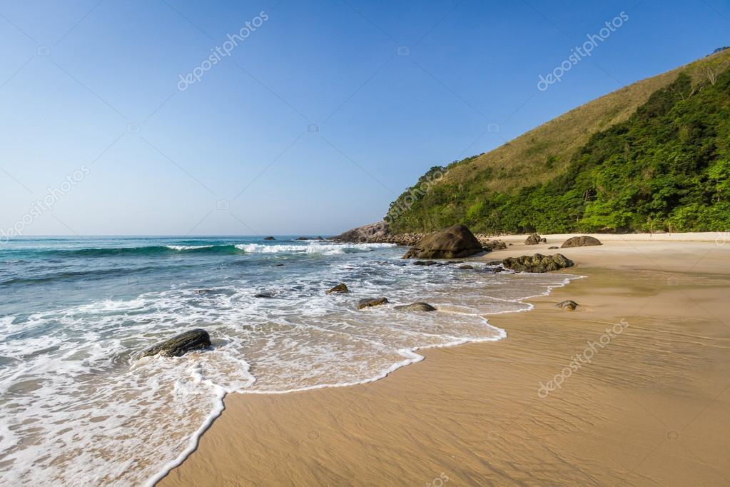 Beautiful beach in Maresias
