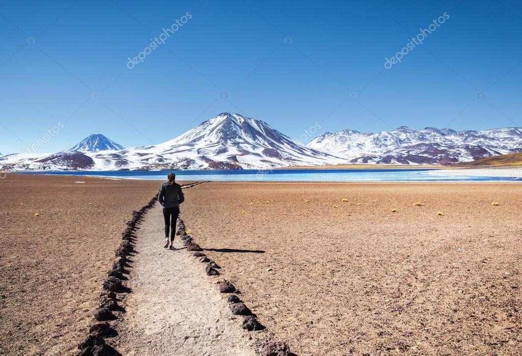 Tourist enjoying landscape