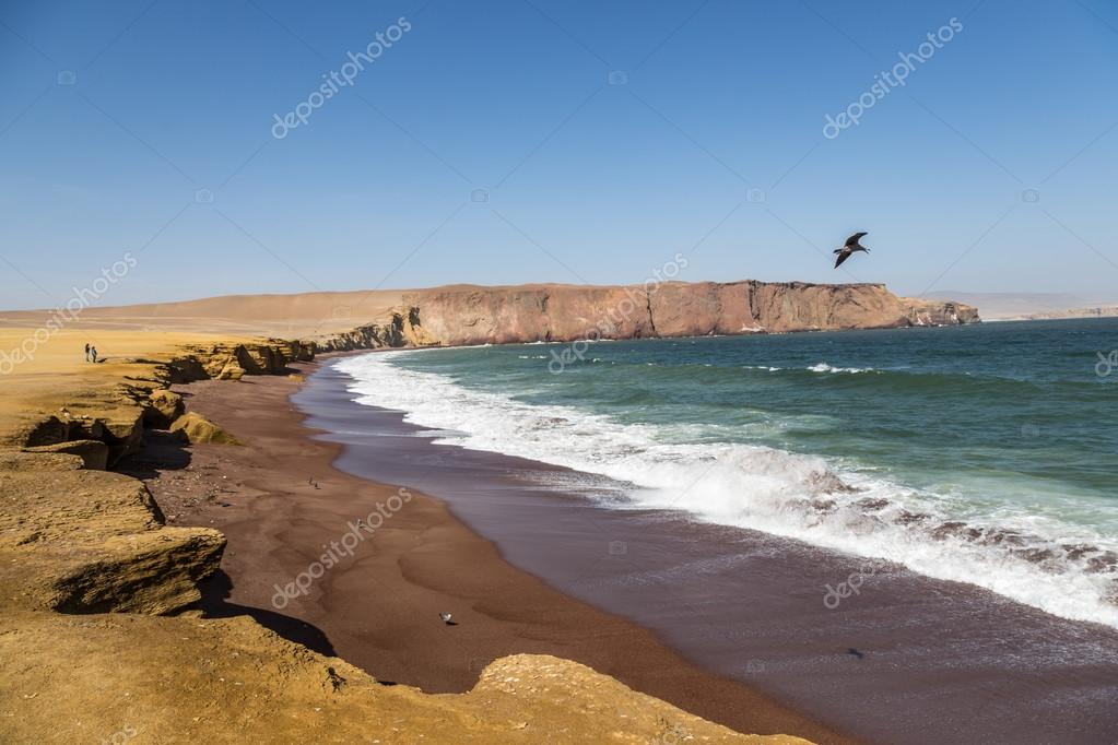 Desert and sea in Paracas area