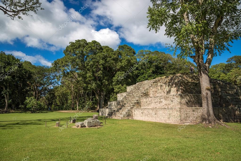 mayan ruins of Copan in sky day