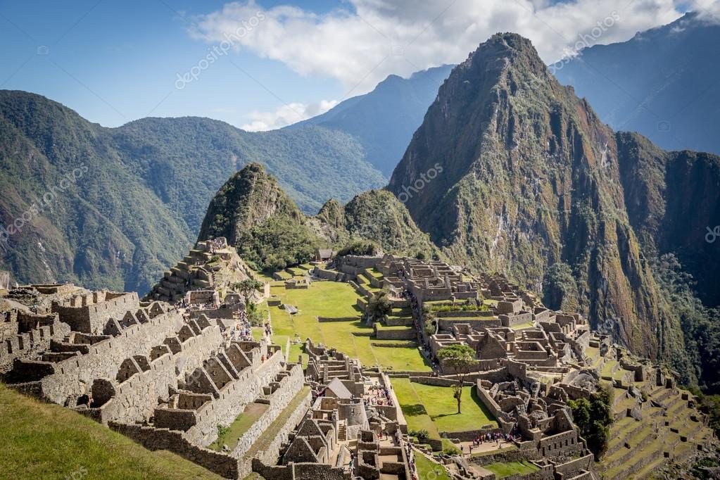 ruins of Machu Picchu in cloudy day