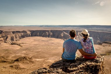 couple enjoy beautiful view