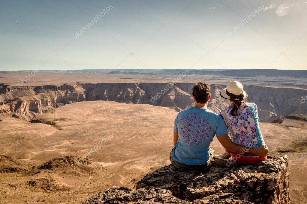 couple enjoy beautiful view
