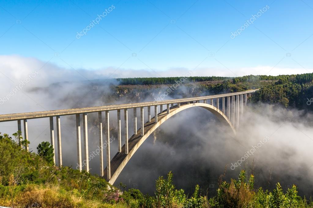 Famous bridge on garden route